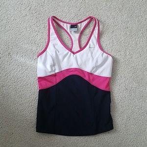 Nike dri-fit sports top with shelf bra